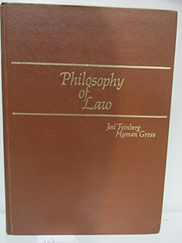 9780822101505: Philosophy of Law (The Dickenson series in philosophy)