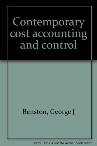 9780822101864: Contemporary cost accounting and control