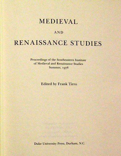 Medieval and Renaissance Studies 9: Proceedings of the Southeastern Institute of Medieval and Ren...