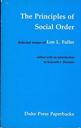 9780822304777: Principles of Social Order: Selected Essays