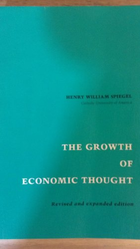 9780822305514: Growth of Economic Thought
