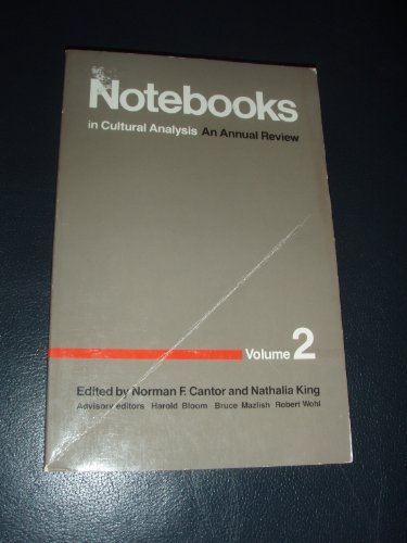 9780822306948: Notebooks in Cultural Analysis: An Annual Review