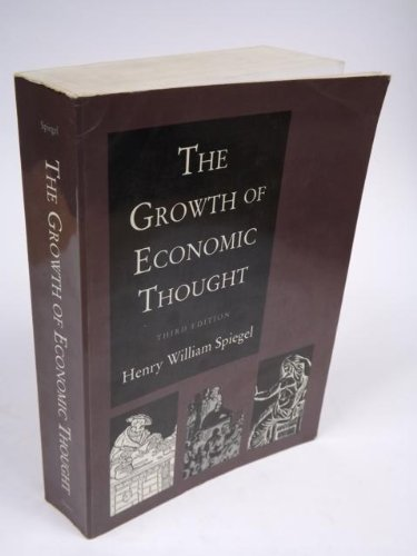 9780822309659: The growth of economic thought