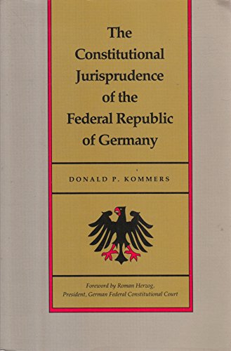 9780822309710: Constitutional Jurisprudence of the Federal Republic of Germany