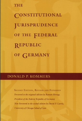 9780822318385: The Constitutional Jurisprudence of the Federal Republic of Germany, 2nd ed.