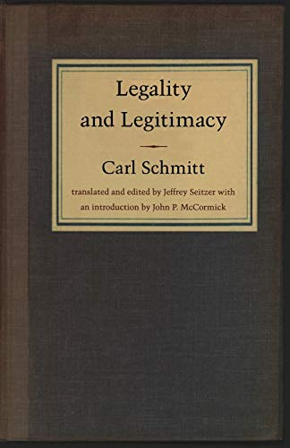 9780822331742: Legality and Legitimacy