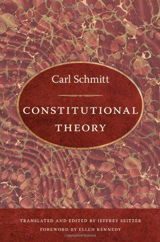 Constitutional Theory: Schmitt, Carl