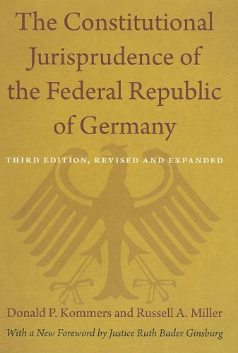 9780822352488: The Constitutional Jurisprudence of the Federal Republic of Germany: Third edition, Revised and Expanded