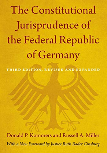 9780822352662: The Constitutional Jurisprudence of the Federal Republic of Germany: Third edition, Revised and Expanded