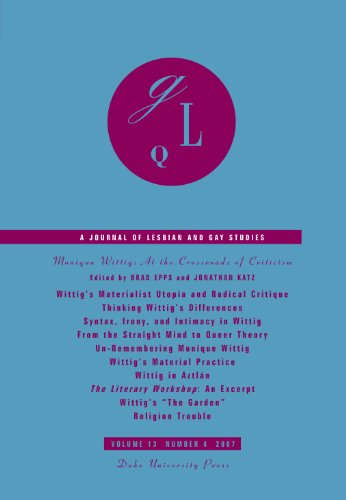 9780822366812: Monique Wittig: At the Crossroads of Criticism (Journal of Lesbian and Gay Studies)