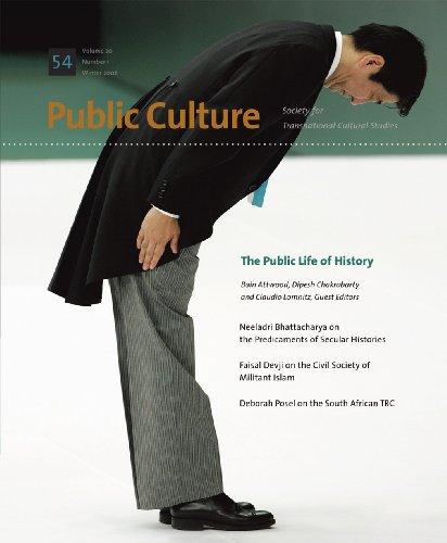 9780822366874: Public Life of History (Public Culture: Winter 2008)