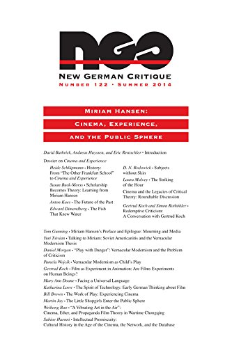 9780822368151: Miriam Hansen: Cinema, Experience, and the Public Sphere (New German Critique)