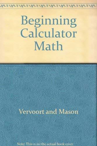 9780822412007: Beginning Calculator Math