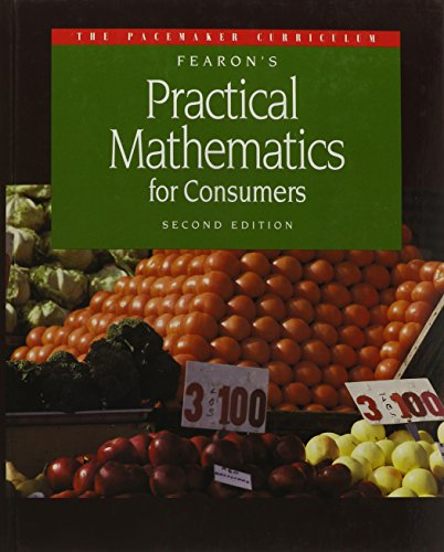 9780822469001: Fearon's Practical Mathematics for Consumers, 2nd Edition