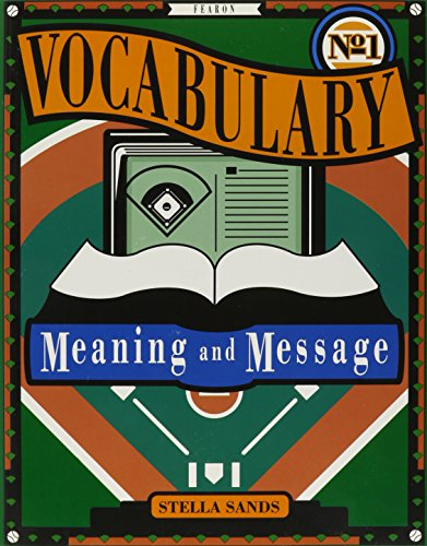 9780822494768: GF VOCABULARY MEANING AND MESSAGE BOOK ONE 1992C