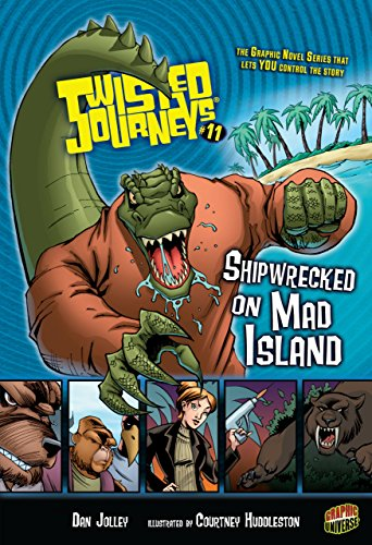9780822588757: #11 Shipwrecked on Mad Island (Twisted Journeys)