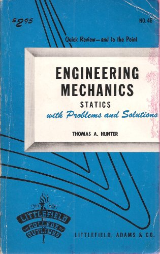 9780822600466: Engineering Mechanics Statics With Problems and Solutions