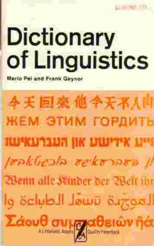 9780822601777: Dictionary of Linguistics
