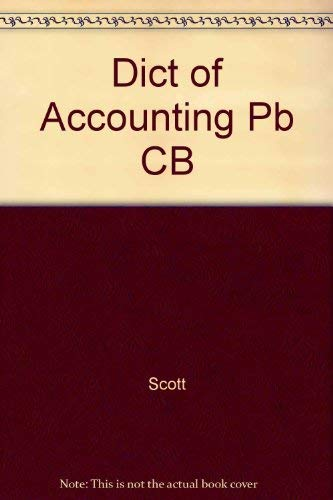 9780822603849: Dictionary of Accounting