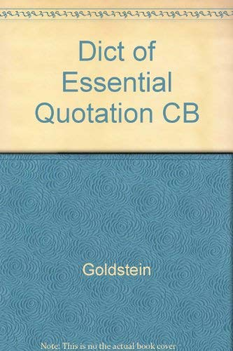 The Dictionary of Essential Quotations: Goldstein-Jackson, Kevin