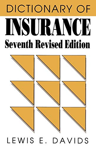 9780822630005: Dictionary of Insurance