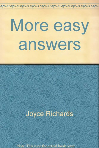 9780822865162: More easy answers (A Cricket book)