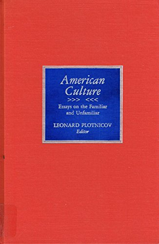 9780822911579: American Culture: Essays on the Familiar and Unfamiliar