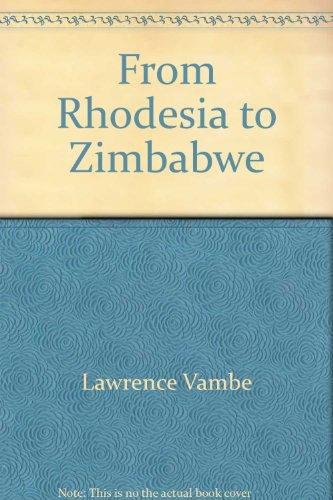 9780822933175: From Rhodesia to Zimbabwe