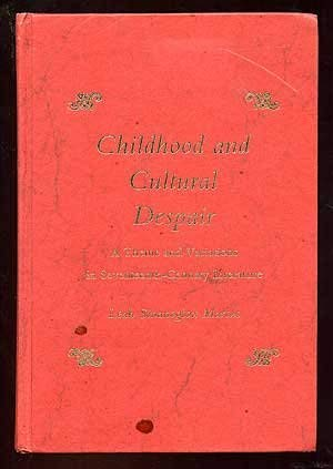 9780822933670: Childhood and cultural despair: A theme and variations in seventeenth-century literature