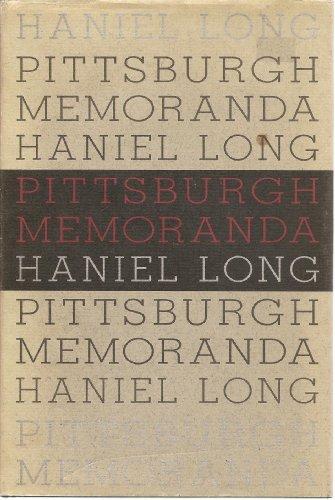 9780822936572: Pittsburgh Memoranda