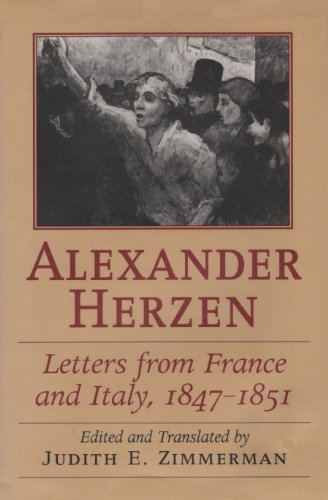 9780822938903: Letters from France and Italy, 1847-1851 (Russian and East European Studies)