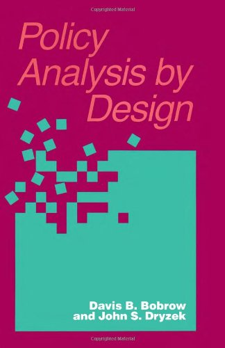 9780822953920: Policy Analysis by Design (Pitt Series in Policy and Institutional Studies)