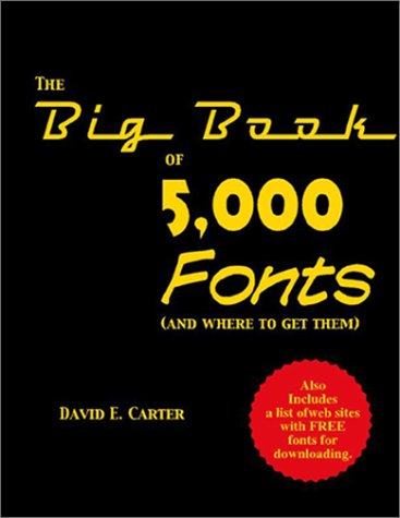 9780823004898: The Big Book of 5000 Fonts (and Where to Get Them)