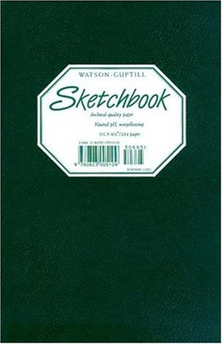 "Sketchbook-Hunter Green Blank Book 5 1/2 x 8 1/4"" (0823005100) by Watson-Guptill"