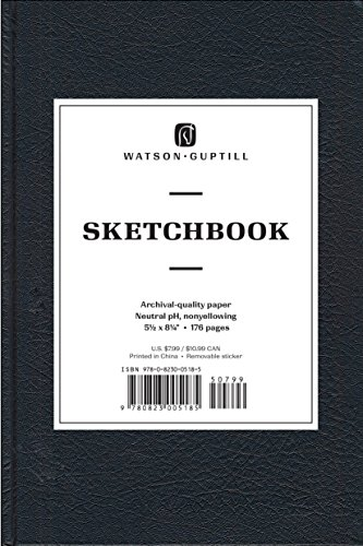 "Sketchbook-Black Blank Book-5 1/2 x 8 1/4"": Watson-Guptill Publications"