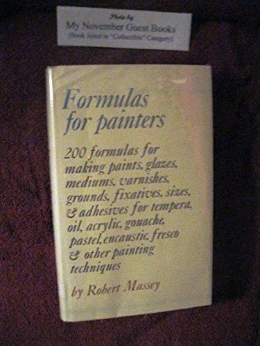 9780823018758: Formulas For Painters