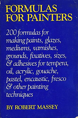 9780823018765: Formulas for Painters