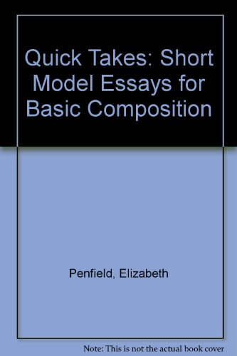 9780823050048: Quick Takes: Short Model Essays for Basic Composition