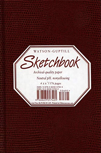 "Sketchbook-Burgandy Lizard cover-4x6"": Watson-Guptill Publications"