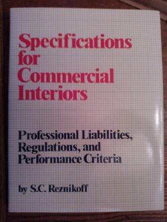 9780823073535: Specifications for Commercial Inter
