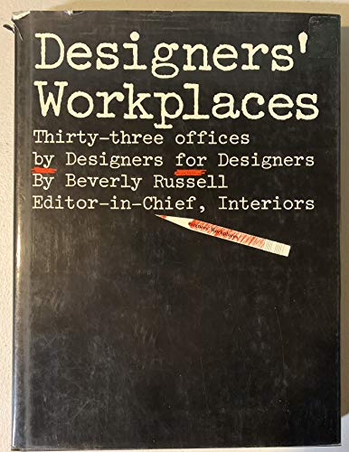 9780823074921: Designers' Workplaces: Thirty Three Offices by Designers for Designers