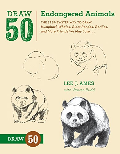 9780823086085: Draw 50 Endangered Animals: The Step-by-Step Way to Draw Humpback Whales, Giant Pandas, Gorillas, and More Friends We May Lose...