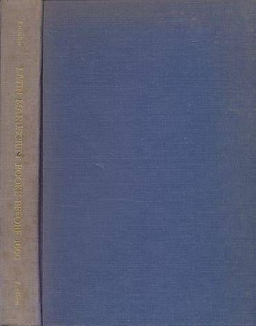 Latin Manuscript Books Before 1600: Kristeller, Paul O.