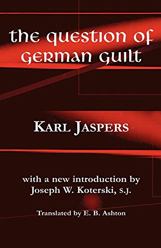 9780823220694: The Question of German Guilt (Perspectives in Continental Philosophy)