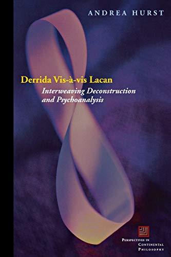 9780823228751: Derrida Vis-à-vis Lacan: Interweaving Deconstruction and Psychoanalysis (Perspectives in Continental Philosophy)
