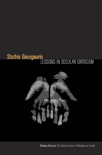 9780823253784: Lessons in Secular Criticism (Thinking Out Loud)