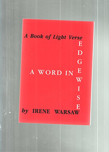 9780823301119: A word in edgewise; a book of light verse