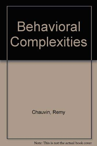 Behavioral Complexities (0823604950) by Remy Chauvin