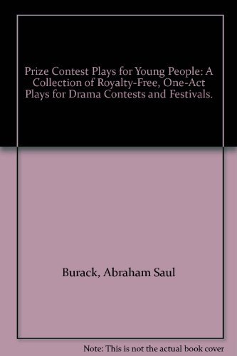 9780823800117: Prize Contest Plays for Young People: A Collection of Royalty-Free, One-Act Plays for Drama Contests and Festivals.