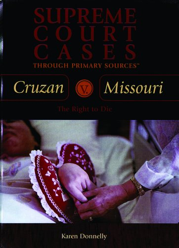 cruzan v missouri Cruzan v director, mo dept of health,  cruzan was rendered a vegetable by a  a missouri statute allowed a responsible party to pull the plug only if there.
